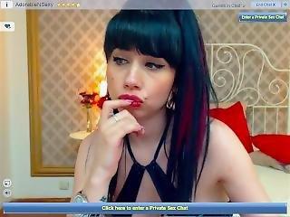 Chick, Russisch, Roken, Webcam