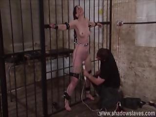 bdsm, bondage, kerker, fetish, hardcore, model, slaaf, billenkoek, vast gebonden, zweep
