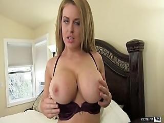 Teen Pornstar Corrina Blake Shows Off Her Giant Tits
