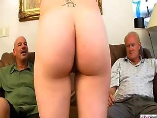 A Late Night Party Left Over Some Remnants That Dick And Rod Wanted To See What Better Way To Start The Day Than To Have A Sexy Hottie Come Out Of The Back And Agree To Give Us Some Back For A Little Incentive We Gave Her The Interview Some Cash A Lotta D