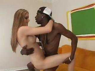 Teenie White Bitch Gets Huge Black Dick