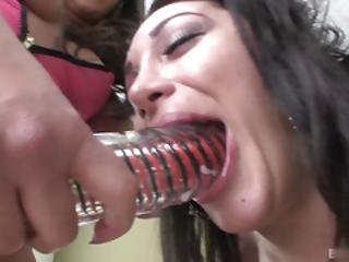 Busty Jynx Maze Tastes Dildo And Real Dick