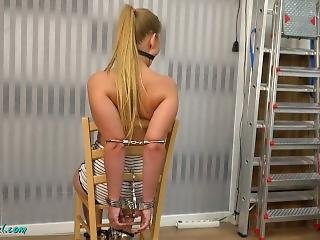 Tightly Cuffed To Chair