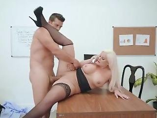 Julie Cash Gets Dicked Down In Office