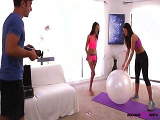 India Summer And Janice Griffith Yoga Threesome