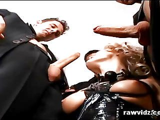 Hot Blonde Dora Venter In Bdsm Foursome