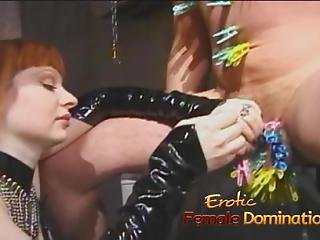 Two Mistresses Team Up And Dominate Felix In The Dungeon-6