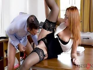 Babes   Ginger Has Some Fun At Work%2C Eva Berger