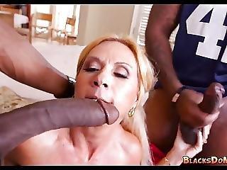 Blonde Mom Gets Black Cock On Gameday