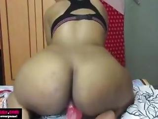 Thick Ass Indian Cums On Dildo