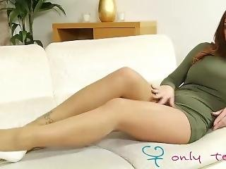Stacey Poole Strips From Her Tight Green Dress