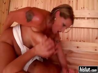 Eva Notty Hot Sauna Drilling Fast