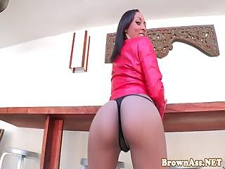 Ebony Beauty Doggy Styled Then Rides On Top