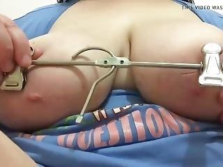 amatør, fastspændt, fetish, onani, brystvorte, slut, alene