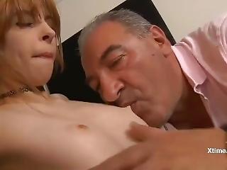 Very Skinny Redhead Fuck