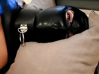 Kinkyviolet Leather And Latex Bondage Girl