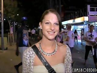 German Brunette Amateur Spermwalk In Mallor