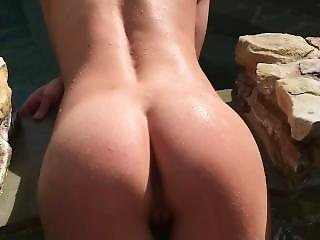 Teen Gets Fucked In Outdoor Hot Tub By Big Dick