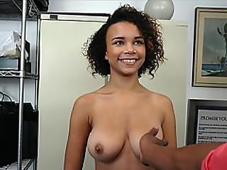 Big Tit Ebony Teen Rides Big Black Cock