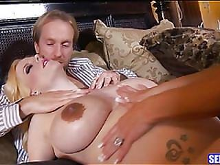 Huge Tits Pregnant Babe Picked Up