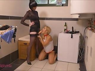 Panty Thief Slave Girl Facialized By Mistress Julia