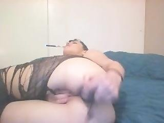 Vaping In Sparkle Tights While Playing With My Ass And Pussy Till I Cum