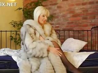 Blond Milf Anal In Fur