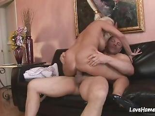 Hot Blonde Chick Is Riding His Pulsating Pecker