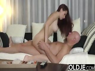 Sugar Daddy Fucks Step Daughter Tight Pussy Goes Deep Inside Her