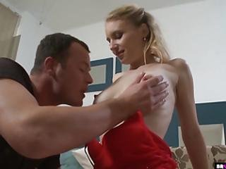Cute Blonde Teen Played With Like A Toy