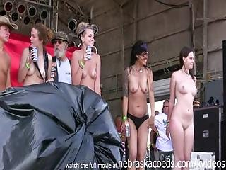Sexy Thin Iowa Beauties Stripping Down At The Annual Abate Motorcycle Rally