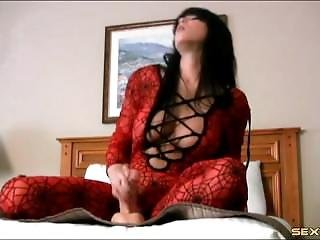 Beauty With A Body Stocking Gives Lusty Joi