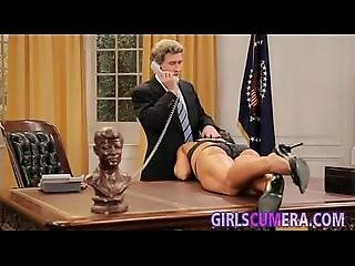 Brunette Milf Sucks The Cock Of President Of The Usa