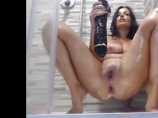 anal, brunette, sædshot, dildo, kneppe, tysk, handjob, hardcore, kæmpe dildo