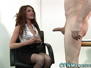 Cfnm Mistress Boss Rides Cock
