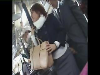 Japanese Sexual Harassment On The Bus Part 1