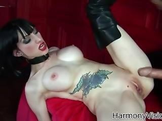 Goth Sofia Fucked In Leather Boots