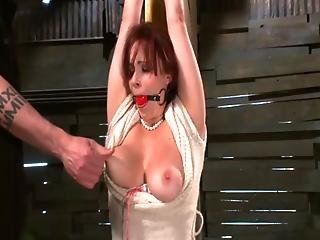 Tied Up Subject Being Spanked By Her Dom Master
