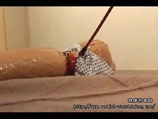 Nanako Aida Mummified And Leashed