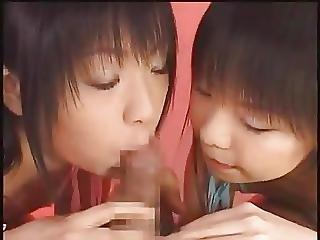 Asiatique, Pipe, Sperme, échange De Sperme, Japonaise, Sexy, Ados, Trio