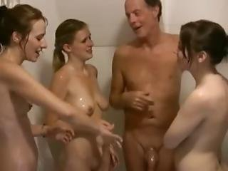 Shower Three Girls Handjob