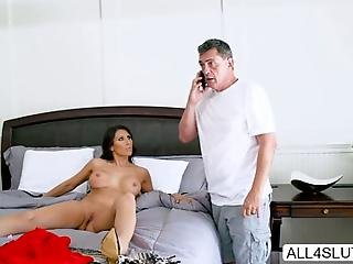 Hot Milf Makayla Cox Is Dating A Married Man After A Steamy Date She Is So Excited To Get Fucked And Her Bf Ties Her Wrist To His Headboard Unluckily He Gets A Call From His Wife While Makayla Waits For Him To Return Lucas Frost Walks In And Fucks Her In Different Hardcore Position