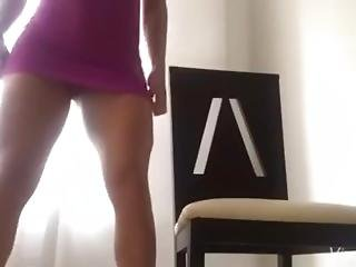 Ana Cozar In Sexy Purple Dress