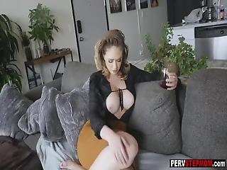 Busty Milf Stepmom Know How To Care About Her Stepson