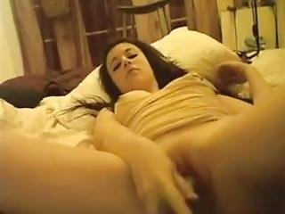 Teen On Cam With A Cucumber