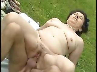Granny Mom Hungarian Fuck Outdoor