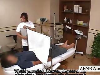 Cfnm, クリニック, 検査, 日本人, メディカル, 陰茎, 不可思議な