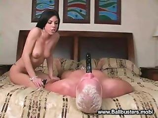 Gimp Slave Face Fucked And Cock Shocked