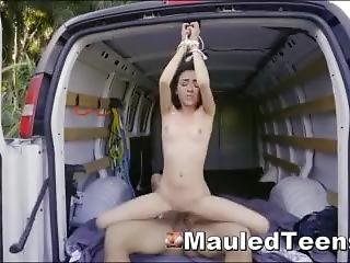 Bound & Rough Fucked Teen After Vehicle Breakdown