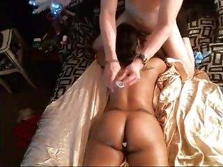 My Husband Gives Me A Oil Massage And 1st Time Butt Plug In My Ass